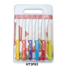cuchillo de carne con tabla de cortar