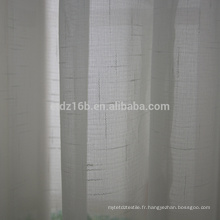 Tissu transparent à rayures en polyester à nouvelle arrivée
