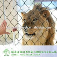 2015 alibaba china fabricar acero inoxidable 304 red de malla de cuerda para animales cerca barata