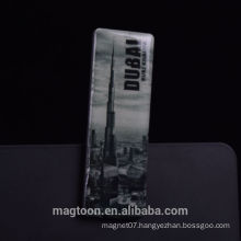 2016 hot selling Dubai tourist souvenir poly resin fridge magnets