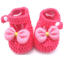 Baby Girl Crochet Knitted Sandals Shoes Woolen Handmade