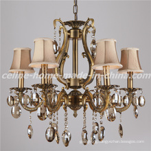 Luxury Design Crystal Lighting Iron Chandelier Lamp (SL2116-6)