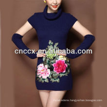 13STC5651 Fashion pullover lady woolen sweater chinese style