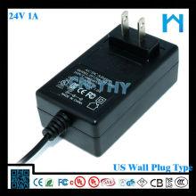 Fonte de alimentação de 24Volt - Adaptador de 1 Amp (24V 1A DC)
