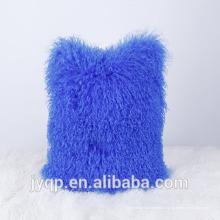 2018 gros mongol agneau fourrure laine molle taie d'oreiller