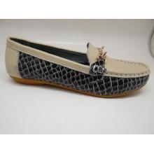Lates Frauen Freizeit Leder Schuhe Casual Leder Schuhe (SF013)