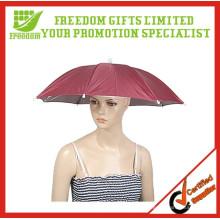 Fördernde preiswerte Logo-kundenspezifische Regenschirm-Hüte für Verkauf