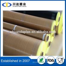 Adhesivo de silicona PTFE de fibra de vidrio PTFE teflón recubierto un lado adhesivo fibra de vidrio tela