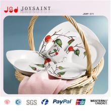 Heißes verkaufendes quadratisches Abendessen-Set (JSD116-S011)