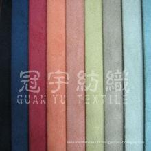 Tissu en nubuck 100% polyester en cuir artificiel