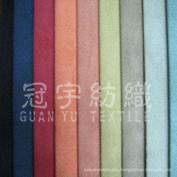 Artificial Leather 100% Polyester Nubuck Fabric