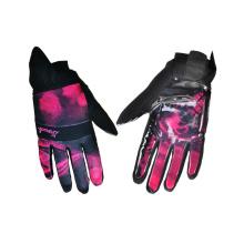 Guante de esquí impermeable, Guante de esquí de cuero de dedo largo (5)