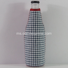 Fesyen Gingham Neoprene Beer Bottle Holders
