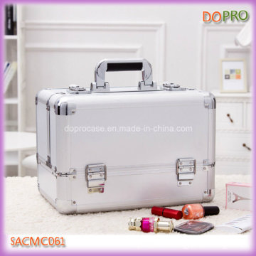 Pure Silver ABS Surface Good Finish Hard Side Cosmetic Case (SACMC061)