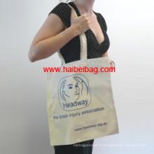 Sac en coton sac à bandoulière shopping sac fourre-tout promotionnel (HBCO-47)