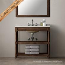 Gabinete de banheiro de madeira de carvalho montado no chão personalizado