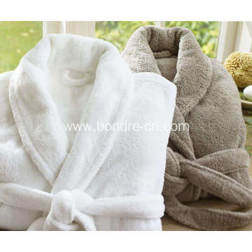 Luxury Men's  Fleece Bathrobe With Embroidary