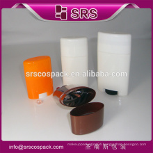 SRS high quality cosmetic deodorant stick container , plastic 15g 50g 75g solid perfume containers