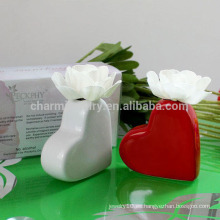 2014 populares en forma de corazón de porcelana difusor de fragancia con la flor seca P-005