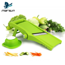 Newest kitchen accessories plastic hand held blade thickness adjustable fruit and vegetable grater slicer quick mandolin