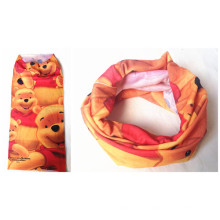 Custom Made Kid′s Cartoon Bear Printing Multifunctional Seamless Headband, Scarf