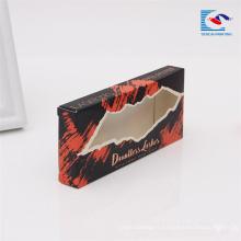 bon marché pliage œil cils vison 3d boîte d'emballage en papier