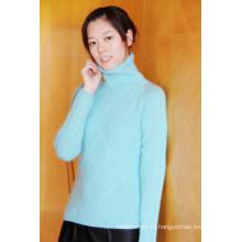 Кашемировый женский пуловер с кабелем