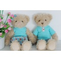 2015 New design lovely plush teddy bear toys stuffed honest bear toy with bow tie
