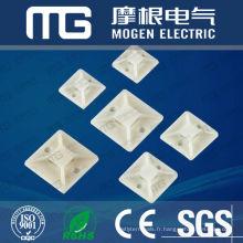 Nylon 66 Support de serre-câble avec homologation UL, 94v-2