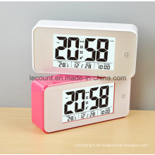 Relógio de calendário digital LCD com luz de fundo (LC845)