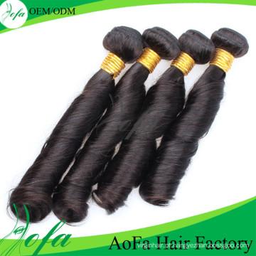 Cabelo remy do Virgin do cabelo humano do Mongolian da qualidade superior da categoria 7A