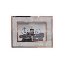 Handmade Shell Atacado Metal Photo Frame com ouro rosa