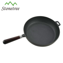Sartén antiadherente redonda de hierro fundido para cocinar