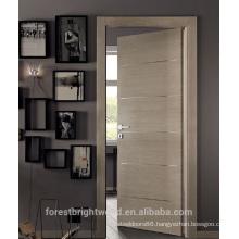Modern wood door designs with aluminum strips