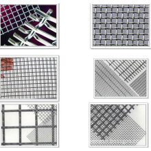 8*8mesh,10*10mesh Strong Structure Heavy Duty Brass Stainless Steel Crimped Wire Mesh For Screen In Mining