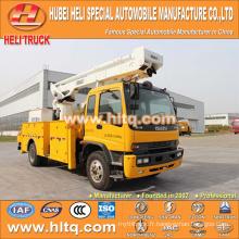 Japon ISUZUS 4x2 HLQ51409GJKQ benne pliante à grande altitude camion de travail 22M bonne qualité vente chaude à vendre