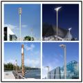 9M Solar de calle de iluminación de acero postes