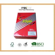 A4 80g Papel de cópia colorida / papel de escrita