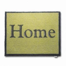 Fabric Door Mat, Customized Requirements are Accepted, Available in Various Colors