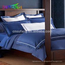 Египетский хлопок простыня оптом Жаккард комплекты постельных принадлежностей гостиницы 5 звезд