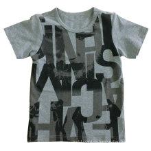 Camiseta de letra camiseta de niño en ropa de niños con algodón de calidad Sqt-610