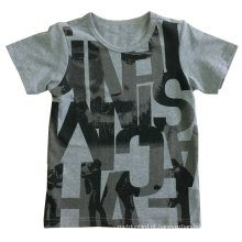 Carta t-shirt menino t-shirt em roupas infantis com qualidade de algodão sq-610