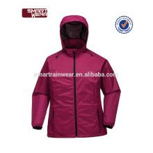 Windbreaker Jacke Ecoach Bekleidungshersteller OEM benutzerdefinierte Polyester Regenjacke