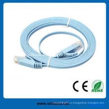CAT6 Плоский патч-кабель, доступный в разных длинах и цветах