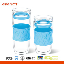Promotional Heat Resistant Double Wall Glass Water Cup Wholesale