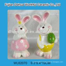 Art de lapin céramique de design fabuleux, statue en lapin en céramique, figurine en lapin en céramique pour la décoration de Pâques 2015