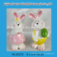 Fabulous design ceramic rabbit art,ceramic rabbit statue,ceramic rabbit figurine for 2015 Easter decoration