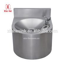Lavamanos de acero inoxidable, base para beber de montaje en pared con splash