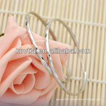 Fashion women big silver hoop earrings