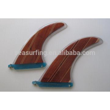 buntes Design Schwimmflossen Surf Finnen / Holz Surfbrett Flosse